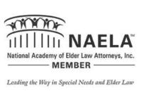 NAELA. National academy of elder law attorneys, inc. Member. Leading the way in special needs and elder law.